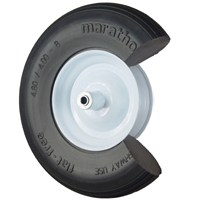 Small photo of Wheelbarrow Wheels - Flat Free Ribbed Wheelbarrow Tire