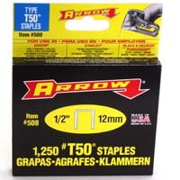 Small photo of Staples - 1/2IN Staples 1250/Box