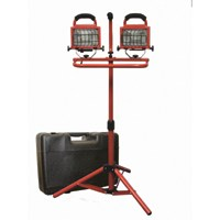 Small photo of Halogen Tripod Work Lights - 2x250 Watts Work light with case