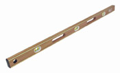 "Small photo of Level - 24"" Brass Bound Mahogany"
