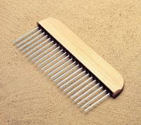 "Small photo of Wire Brushes - Flat Wire Texture Hand Broom 12"" with 1/2"" spacing"