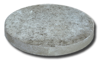 """Small photo of Stepping Stone - 14"""" Round Grey"""