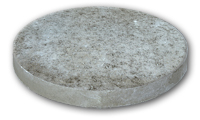 """Small photo of Stepping Stone - 12"""" Round Grey"""