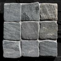 "Small photo of Himalayan Kashmire Tumbled Cobble on 12""x12"" Mesh"
