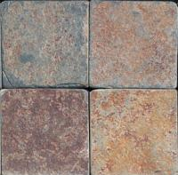 "Small photo of Ming Valley Tumbled Slate 6""x6"""