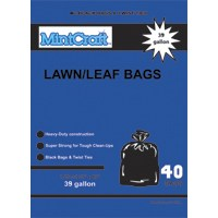 Small photo of Lawn and Leaf Bags - 39 Gallon 1.25 M Lawn and Leaf Bag Black