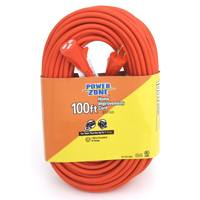 Small photo of Extensions - 100 Feet  14/3 SJTW Orange Extenssion Cord