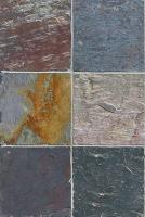 "Small photo of Indian Multicolor Gauged Slate 12""x12"""