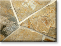 "Small photo of Lompoc Scrambled Egg Flagstone 2""-3"" from Lompoc Quarries"