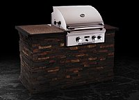 "Small photo of American Outdoor Grill 24"" Built-in, w/o Backburner and Warming Rack"