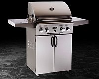 Small photo of American Outdoor Grill 24 x 18 Portable Grill w/o Backburner, Warming Rack and Sideburner
