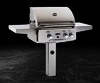 "Small photo of American Outdoor Grill 24"" Freestanding Gas Grill Post Mount w/o Backburner and Warming Rack"