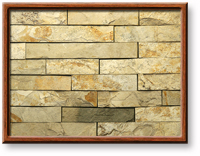 "Small photo of Lompoc Country 2"" Seamface Strip Thin Veneer from Lompoc Quarries"
