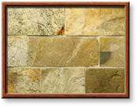 "Small photo of Lompoc Country 6"" Seamface Strip Thin Veneer from Lompoc Quarries"