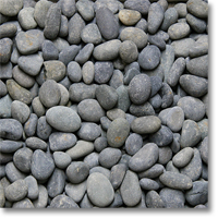 "Small photo of Black Mexican Beach Pebbles 1/2""-1"""