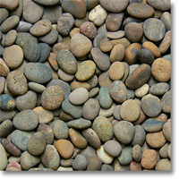 "Small photo of Mixed Mexican Beach Pebbles 1/2""-1"""