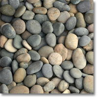 "Small photo of Mixed Mexican Beach Pebbles 1""-2"""