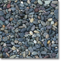 "Small photo of Mixed Mexican Beach Pebbles 3/8""-5/8"""