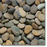 "Small photo of Mixed Mexican Beach Pebbles 2""-3"""