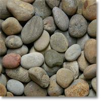 "Small photo of Mixed Mexican Beach Pebbles 3""-5"""