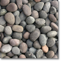 "Small photo of Red Mexican Beach Pebbles 1""-2"""