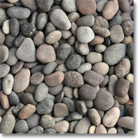 "Small photo of Red Mexican Beach Pebbles 1/2""-1"""