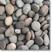 "Small photo of Red Mexican Beach Pebbles 2""-3"""