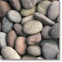 "Small photo of Red Mexican Beach Pebbles 3""-5"""