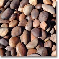 "Small photo of Sunburst Pebbles 1"" to 3"" size"