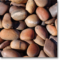 "Small photo of Sunburst Pebbles 3"" - 5"" size"