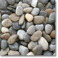 "Small photo of Mixed Polished Pebble 2"" to 3"" size"
