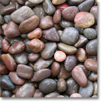 "Small photo of Red Polished Pebble 1"" to 2"" size"