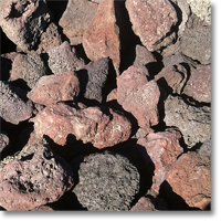 "Small photo of Red Lava 3"" to 5"""
