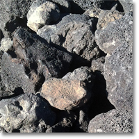 "Small photo of Black Lava 3"" to 5"""