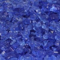 Small photo of Light Blue Fire Pit Glass - Small and Medium