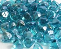 Small photo of Powder Blue Luster Zircon Fireglass