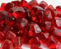 Small photo of Ruby Red Zircon Fireglass