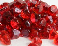 Small photo of Ruby Red Luster Zircon Fireglass