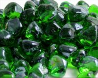 Small photo of Shamrock Green Luster Zircon Fireglass